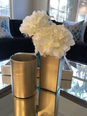 Gold glass vases for Sale in Irvine, CA