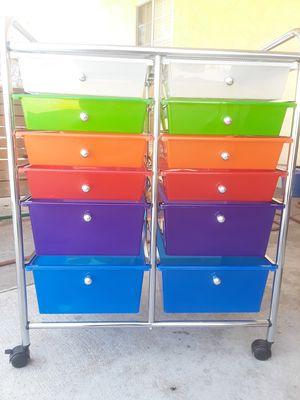 Multi Color 12 Storage Rolling Bin for Sale in El Cajon, CA