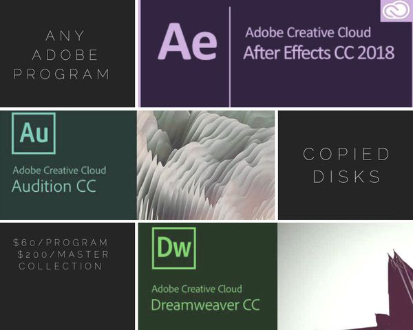 Any Adobe program $60