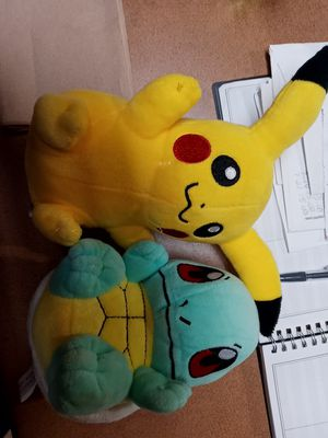 Pikachu and Squirtle Stuffed Animals for Sale in Leander, TX