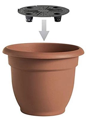 Pot Self-water6-inch Pot Self-Watering Planter Fiskars BRAND NEW Clay Colored Pot 2-Pack for Sale in Industry, CA