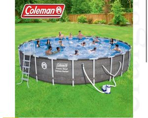 "Coleman Power Steel 26' x 52"" Deluxe Series Pool Set with Pump, Ladder for Sale in Austin, TX"