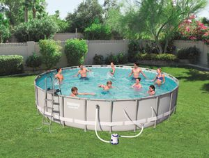 """Bestway Power Steel 14' x 42"""" Frame Swimming Pool Set w/ Pump, Ladder for Sale in Plymouth Meeting, PA"""