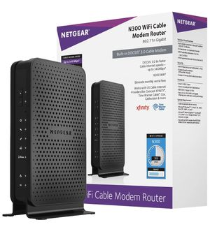 Netgear n300 WiFi cable modem router for Sale in Los Angeles, CA