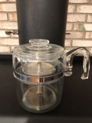 Pyrex 9 cup coffee maker all original pieces (complete for Sale in East Moline, IL