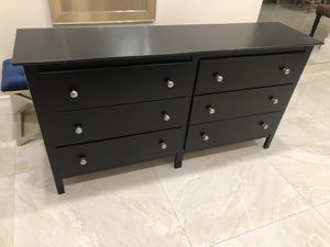6 drawer black dresser for Sale in Miami, FL