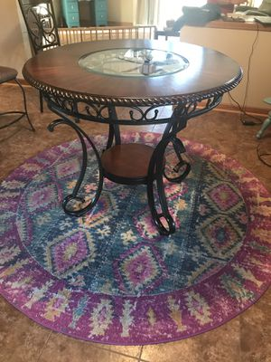 5 piece dining table with glass for Sale in Manteca, CA