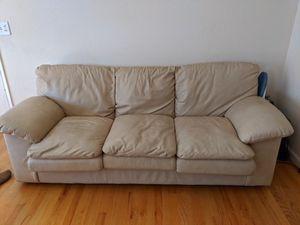 White leather couch for Sale in Sunnyvale, CA