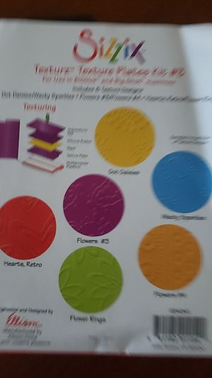 Sizzix texture plate kit #3 card making scrapbooking for Sale in Pompano Beach, FL