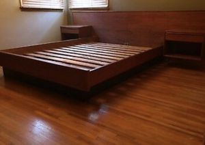 MCM Teak Queen Bed Frame for Sale in Chattanooga, TN