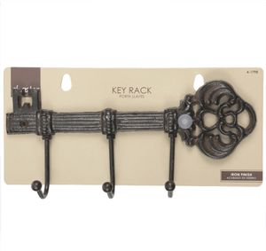 New Truck and Car Easy to Mount 3Hook Iron Finish Rustic Brown Wall Mounted Kitchen Storage Key Rack for Sale in Cypress, TX