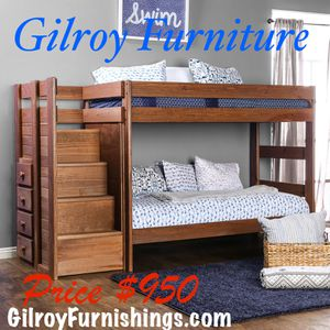 Ampelios Twin/Twin Bunk Bed By Furniture Of America Furniture Of America SKU:AM-BK102 $950.99 for Sale in ONIZUKA Air Force Base, CA