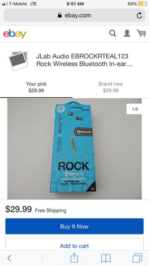 JLAB Rock Wireless Earbuds for Sale in Rancho Cucamonga, CA