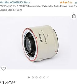 Camera Extender Lense YN2x III for Sale in Anaheim,  CA