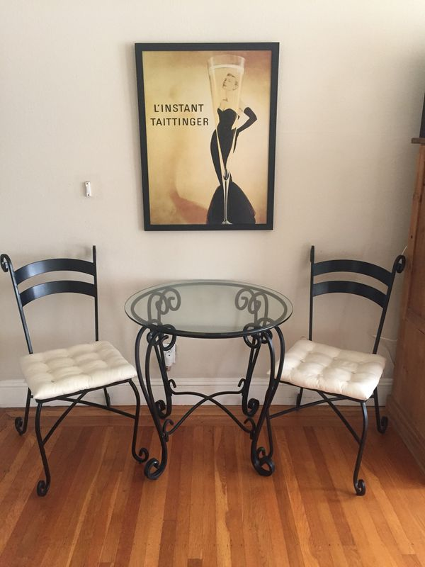 Pier 1 Wrought Iron/ Glass Tables