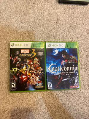 XBOX 360 games-Marvel vs Capcom 3 and Castlevania for Sale in Olney, MD