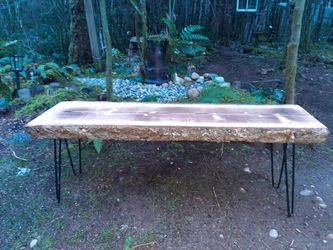 Live Edge Wood Tables, Benches, Shelves And More. Custom Cut and Milled Here On The Kitsap Peninsula (Min. Order 30$ for Sale in Seattle,  WA