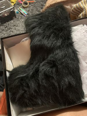 Fur Black Boots for Sale in Washington, DC