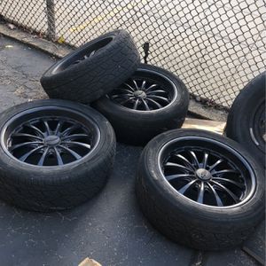 20 Inch Rims Chevy Paint Black for Sale in Staten Island, NY