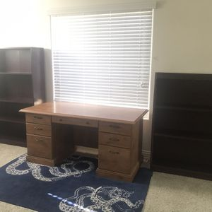 Desk & Bookshelves for Sale in La Costa, CA