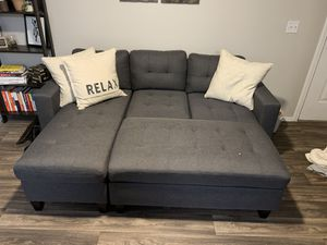 Fairly New, Small Sectional Couch with Ottoman for Sale in Murray, UT