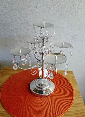 Candlestick holder Silver tone color for Sale in Clearwater, FL