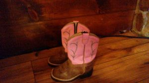 Old west toddlers girl boots size 7 for Sale in Tijeras, NM