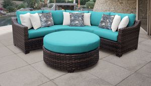 New 4 Piece Outdoor Wicker Patio Furniture Round Lounge Backyard Set for Sale in Chula Vista, CA
