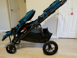 Baby jogger city select double stroller Teal color for Sale in South Windsor, CT