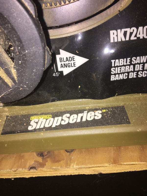 Rockwell table saw shop series
