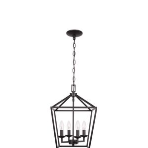 Home Decorators Collection Weyburn 4- Light Bronze Caged Chandelier for Sale in Houston, TX