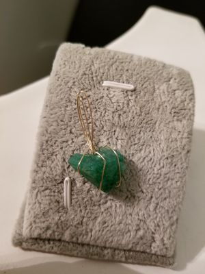 Zambian Emerald pendant artisan 14k Gold handwrapped for Sale for sale  New Brunswick, NJ