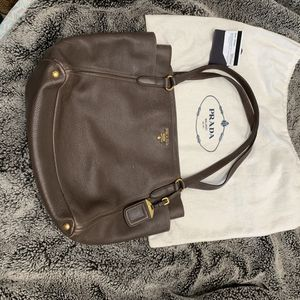 original prada leather brown tote bag for Sale in West Covina, CA