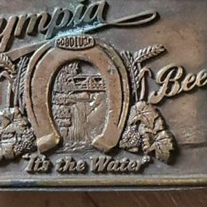 Vintage 1970s Olympia Beer Brass Belt Buckle With Bottle Opener On Back! for Sale in Tacoma, WA