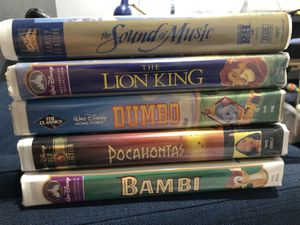Set of 5 classic VHS movies for Sale in Fort Lauderdale, FL