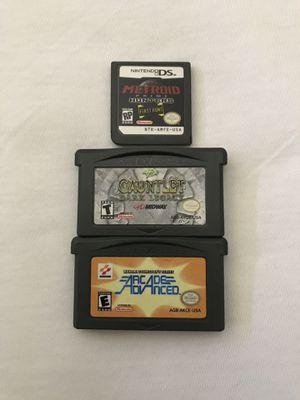 Nintendo Game Boy & Ds Games: Konami Collector's Series Arcade Advanced $5, Gauntlet Dark Legacy $10, Metroid Prime Hunters $5 Play Fine Good Conditi for Sale in Reedley, CA