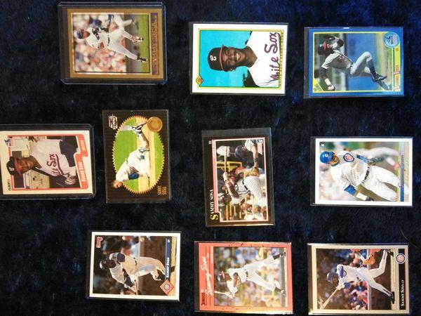 Sammy Sosa Baseball Card Collection.