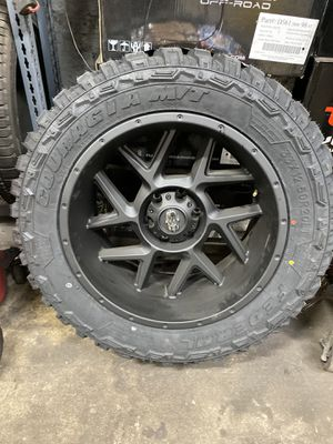 20x10 Matt black vision wheels for Sale in Chicago, IL