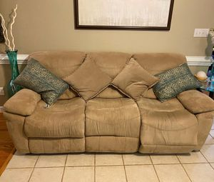 Recliner sofa and dining set solid wood for Sale in Knightdale, NC