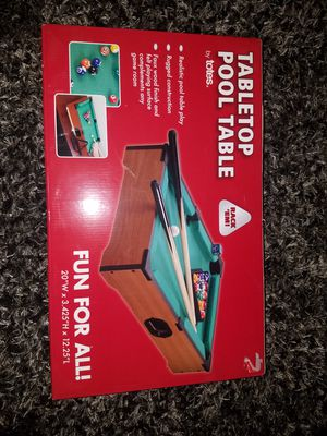 Tabletop Pool Game for Sale in Tamaqua, PA