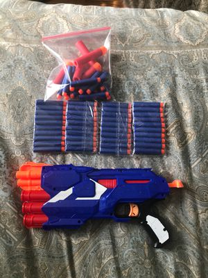 Nerf gun with 54 bullets for Sale in Duncan, SC
