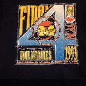 Vintage 1993 Michigan Final Four T-shirt for Sale in Tampa, FL