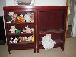 100% cherry book shelf and cabinet for Sale in Milford, OH