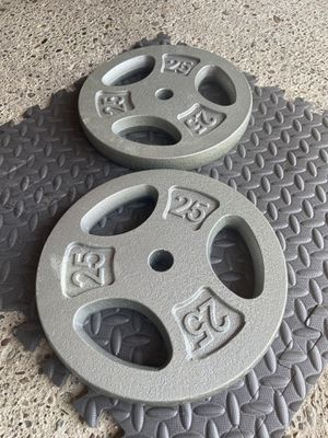 2) 25Lb Weight Plates for Sale in SN JUN BATSTA, CA