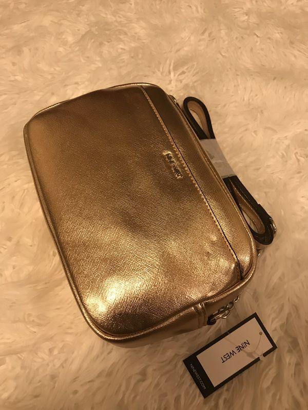 nine west masi rose gold bag