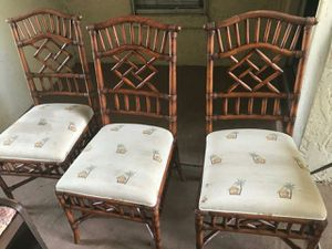 Rattan palm chairs for Sale in Orlando, FL