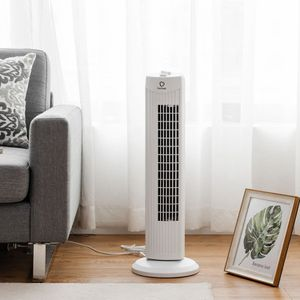 Fantask 35W 28'' Oscillating Tower Fan 3 Wind Speed Quiet Bladeless Cooling Room for Sale in Seattle, WA