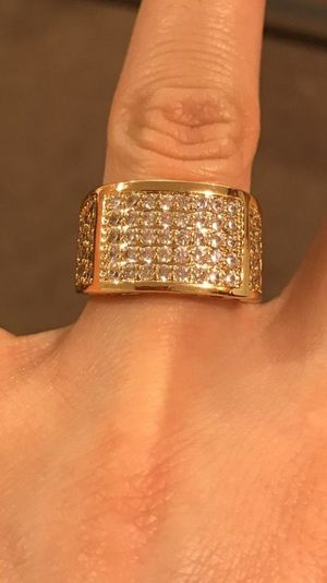 Unisex- 18K Yellow Gold plated - Multi Diamond Design Ring- Code GD901 for Sale in Dallas, TX