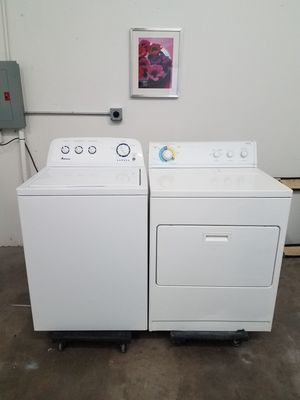 Amana Washer And Kirhland By Whirlpool Electric Dryer Set, Great Working👍, Free Delivery Only For First Floor🚀🚚👷‍♂️Free installation👨‍🔧 for Sale in Richardson, TX