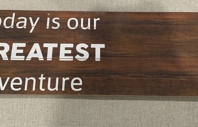 Wooden Slat Hanging Wall Sign for Sale in Houston,  TX